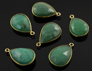 Chrysoprase Faceted Baby Pear Bezel,(BZC7569) - Beadspoint