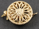 Gold Filled Round Filigree Clasp w/ 1 Ring, (GF/408/1) - Beadspoint