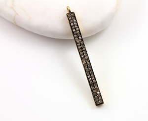 Pave Diamond Bar Pendant, (DCH/CR144)