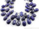 Lapis Lazuli Large Faceted Pear Drops, (LAP12x16PEAR) - Beadspoint