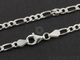 Sterling Silver Finished Figaro Neck Chain , (FIG100-18) - Beadspoint