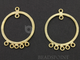 Gold Vermeil Over Sterling Silver Round Earrings, (VM/6629/30) - Beadspoint