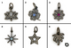 Pave Diamond Charm-3 Finish (Multiple Charms) - Beadspoint