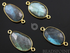 Labradorite Faceted Oval Connector,(LABC020-C)