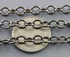 Rhodium Plated High Quality Italian Oval Cable Chain, (CHN/512/RH)