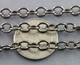 Rhodium Plated High Quality Italian Oval cable chain, (CHN/512/RH) - Beadspoint