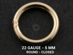 Gold Filled 22 GA 5 mm Jump Round Ring, (GF/JR22/5C)