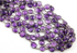 Amethyst Bezel Chain Faceted Oval Connector,, (GMCOX-AM/01)
