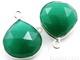 Green Onyx Faceted Heart Bezel, (SSBZ6077) - Beadspoint
