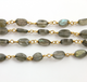 Labradorite Ovals Wire Wrapped Rosary, (RS-LAB-118) - Beadspoint