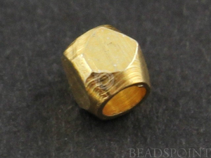 10 Pieces,Gold Vermeil Faceted Nugget Spacer,(VM/6301/2.5) - Beadspoint