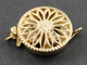 Gold Filled Round Filigree Clasp w/ 1 Ring, (GF/408/1)