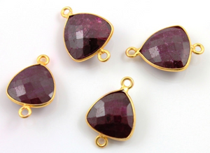 Dyed Ruby Faceted Bezel, (BZC7351-B) - Beadspoint