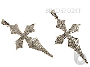 Pave Diamond Cross Pendant -- DP-1319 - Beadspoint