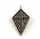 Pave Diamond Triangle Pendant, (DCH/CR135) - Beadspoint
