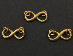 24K Gold Vermeil Over Sterling Forever Infinity Charm -- VM/680/19x9 - Beadspoint