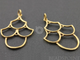Gold Vermeil Over Sterling Silver 4 U Earrings, 1 Pair (VM/747/34X21) - Beadspoint
