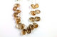 Natural gold rutilated quartz faceted pear gemstone drop, 11x17-14x19 mm, 1 Full Strand, (RTLG/PR/11x17-14x19) - Beadspoint