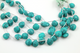 Green Turquoise Faceted Heart Drop, (GTUR/HRT/12) - Beadspoint