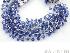 Kyanite Micro Faceted Tear Drops, (KYN3x6TEAR)