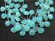 Aqua Blue Chalcedony Faceted Heart Drops, (ACHLC/HRT/10), - Beadspoint