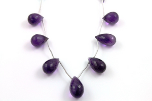 African Amethyst Faceted Tear Drop,  (AM/TRD/10x15-11x21) - Beadspoint