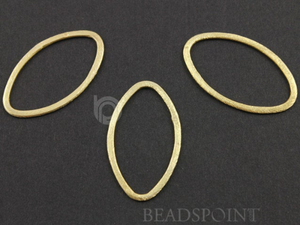 Gold Vermeil Flat Marquise Earring Component, (VM/6591/20x35) - Beadspoint