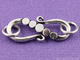 Bali S Hook Clasp w/ 2 Rings,  (BA5429) - Beadspoint