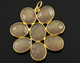 Sand Chalcedony Faceted Fancy Flower Pendant, (BZC7534) - Beadspoint