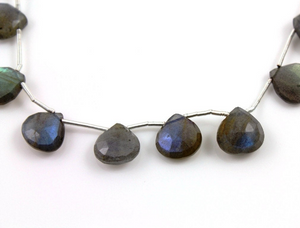 Labradorite faceted heart  drop, (LAB/HRT/10-11) - Beadspoint