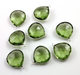 Green Amethyst Faceted Heart Shape Bezel, (SSBZC7014) - Beadspoint