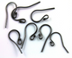 Oxidized Sterling Silver Ball End Ear Wires, (SS/OX/707)