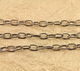 Antique Rhodium Cable Chain,(BLK/CHN/13) - Beadspoint