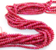 Ruby Smooth Rondelle Beads, (RBY/SRNDL/5-6) - Beadspoint