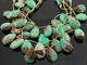 Bio Chrysoprase Medium Faceted Pear Drops, (CHRY11x15PEAR(bio)) - Beadspoint