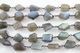 Labradorite Oval Faceted Wire Wrapped Rosary Chain, (RS-LAB-117) - Beadspoint