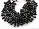Black Onyx Medium Faceted Tear Drops,  (XLongtear) - Beadspoint
