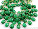 Dyed Natural Emerald Faceted Flat Pear Drops, (DEM9x12FPEAR) - Beadspoint