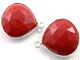 Red Onyx Faceted Heart Bezel, (SSBZ6073) - Beadspoint
