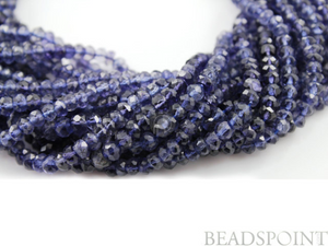 Iolite Micro Faceted Roundels, (IOL3.5-4.5FRNDL) - Beadspoint