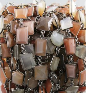 Multi Moonstone Fancy Connector Chain,  (BC-MNX-116)