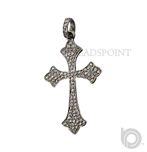 Pave Diamond Cross Pendant -- DPM-1014 - Beadspoint