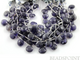 Iolite Faceted Heart Drops, (IOL10-11HRT) - Beadspoint
