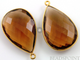 Whisky Topaz Faceted Pear Bezel, (BZC7097) - Beadspoint