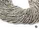 5 Strands, 2.5 mm Silver Pyrite Roundel Faceted Beads, Silver Pyrite Small Beads, Micro Faceted Rondelles, 13 Inches, (SPRYT-2.5-FRNDL) - Beadspoint