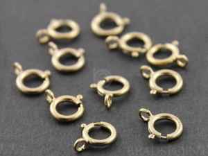 10 pieces, Gold Filled Spring Ring , (GF/450/5c)