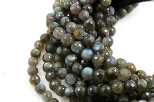 Labradorite Faceted Round beads,(LAB/FRND/9-10) - Beadspoint