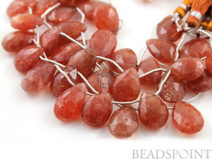 Sunstone Large Faceted Pear Drops,  (SUN12x17Pear) - Beadspoint