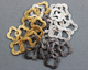 10 pieces, Clover or Quatrefoil Component, 2 Sizes,(VM/6578/14-18)