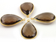 Smokey Quartz Faceted Pear Bezel, (BZC7076) - Beadspoint